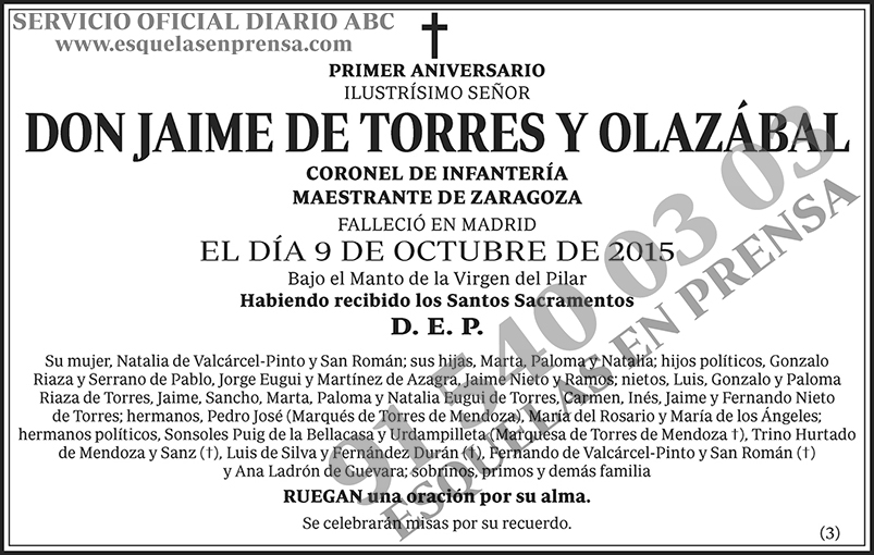 Jaime de Torres y Olazábal